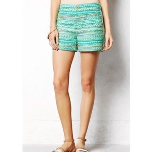 Elevenses Tweed Costas Mid Rise Colorful Shorts